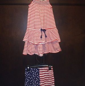 Girls 4th of July patriotic outfit for fireworks A